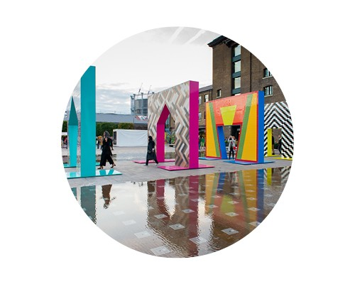 Design installations on granary square during designjunction show