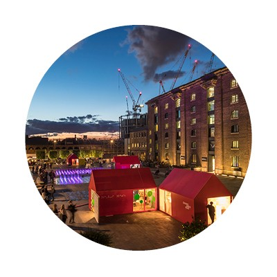 design installations on granary square in kings cross for the designjunction design show